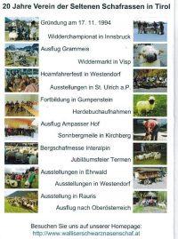 20 Jahre Verein der seltenen Schafrassen in Tirol