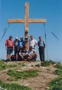 Neues Gipfelkreuz auf dem Gampenkogel in Westendorf